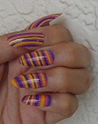 water marble nails art