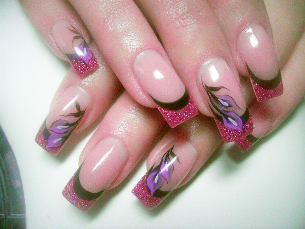acrylic nail flower designs - Stiletto Nails, Acrylic And Gel Nail Designs (TOP 10)