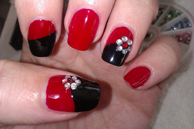 Easy red black and white nail designs best nails 2018 red nail polish designs easy best ideas prinsesfo Images