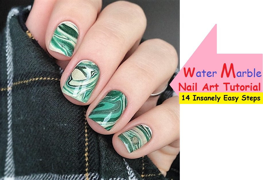 Water marble nails art tutorial 14 insanely easy steps prinsesfo Images