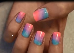 Ombre nails art at home easiest and pretty ombre nail ideas prinsesfo Image collections