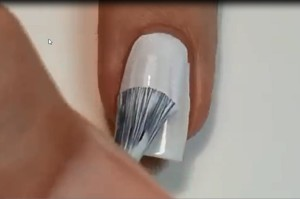 Painting Ombre nails
