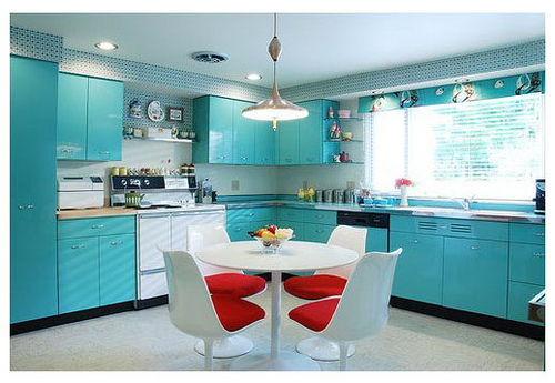 Blue Color Painted Kitchen