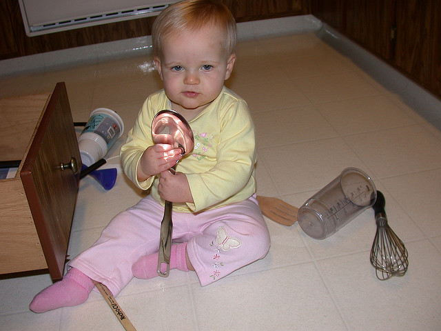 baby proofing a kitchen