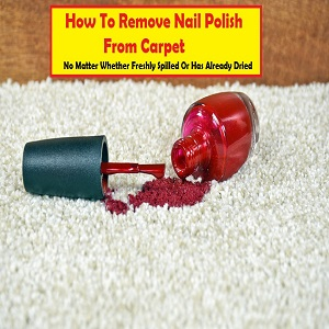 How To Clean Black Nail Polish Off Carpet