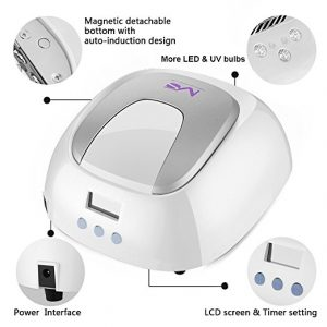 Best Gemengde UV nagellamp voor Gelnagels: # 1: MelodySusie 48W LED UV-Nagellamp: