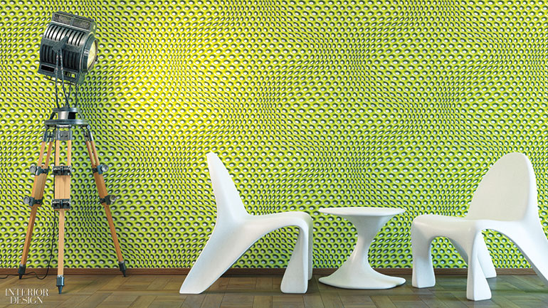 wall design and chair
