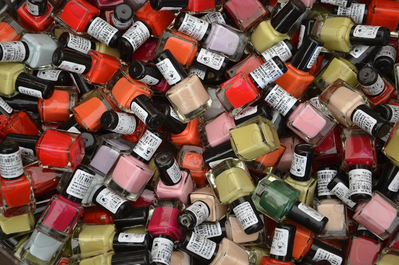 Different colors of nail polish